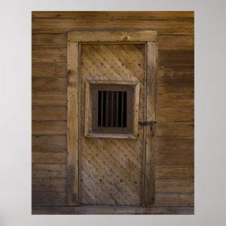 Bodie Jailhouse Door Print