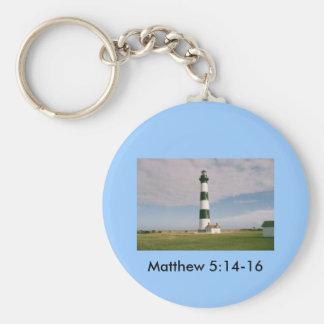 Bodie Lighthouse, Matthew 5:14-16 Basic Round Button Keychain