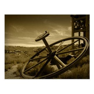 Bodie Mining Flywheel Postcard