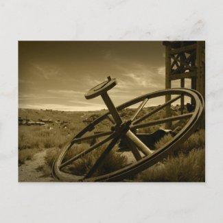 Bodie Mining Flywheel Postcards