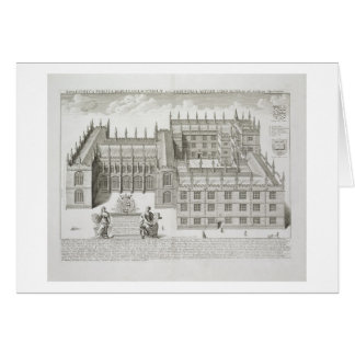 Bodleian Library, Oxford, from 'Oxonia Illustrata' Greeting Card