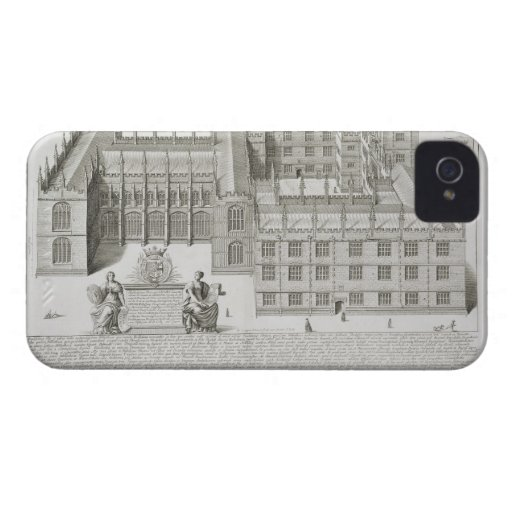 Bodleian Library, Oxford, from 'Oxonia Illustrata' iPhone 4 Case