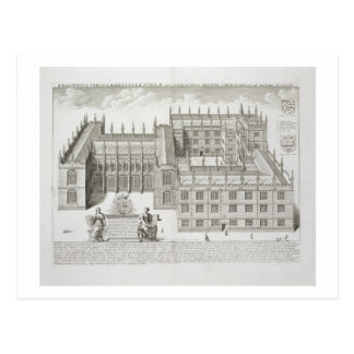 Bodleian Library, Oxford, from 'Oxonia Illustrata' Postcard