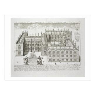 Bodleian Library, Oxford, from 'Oxonia Illustrata' Postcard