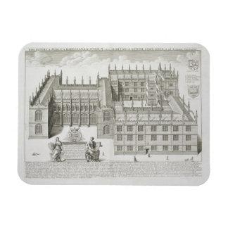 Bodleian Library, Oxford, from 'Oxonia Illustrata' Rectangular Photo Magnet