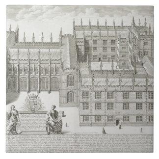 Bodleian Library, Oxford, from 'Oxonia Illustrata' Tile