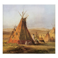 Bodmer's Teepees on the Plain print