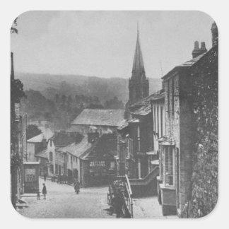 Bodmin Hill, Lostwithiel, Cornwall Square Sticker