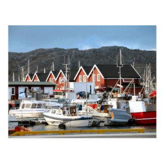 Bodo, harbour postcard