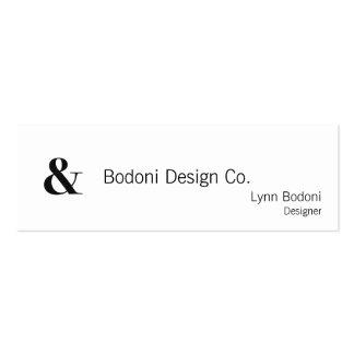 bodoni oldstyle 72 bold mini business card