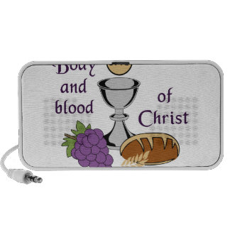 BODY AND BLOOD OF CHRIST iPhone SPEAKERS