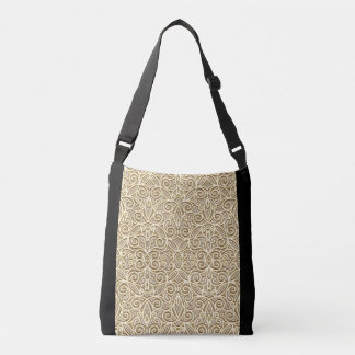 Body Bag-classic  modern twist-Shaped gold layer Crossbody Bag