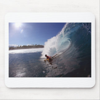 Body board surfing tropical paradise wave mouse pad