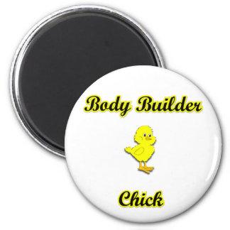 Body Builder Chick Refrigerator Magnet