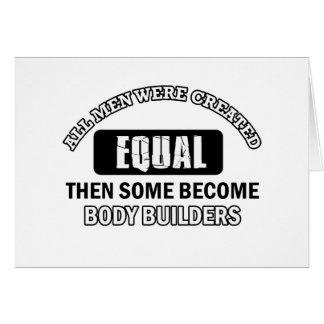 Body Builder designs Card