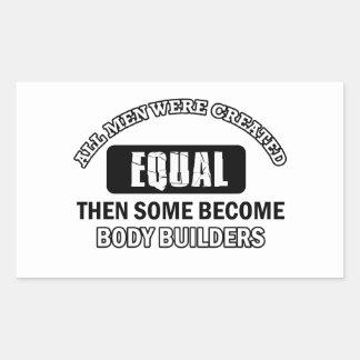 Body Builder designs Rectangular Sticker