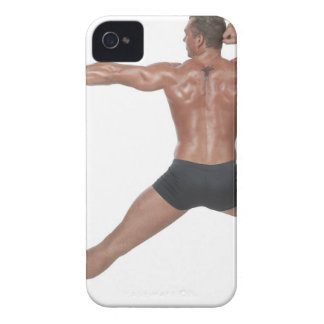 Body Builder in Lunge Pose iPhone 4 Cover