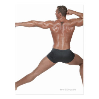 Body Builder in Lunge Pose Postcard