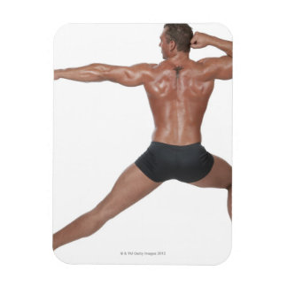 Body Builder in Lunge Pose Rectangle Magnets