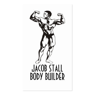 Body Builder Personal Trainer Fitness Business Card