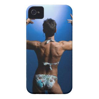 Body builder posing iPhone 4 Case-Mate case
