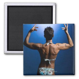 Body builder posing magnet