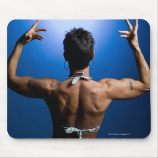 Body builder posing mouse pad
