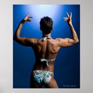 Body builder posing posters