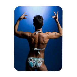 Body builder posing rectangle magnets