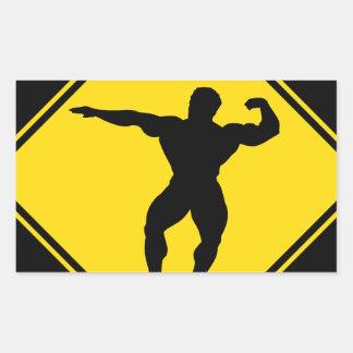 """Body builder"" Rectangular Sticker"