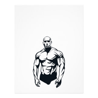 "body-builder_vector_image man muscular sports 8.5"" x 11"" flyer"