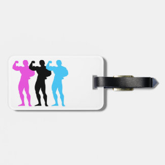 Body Builders Luggage Tag w/ leather strap