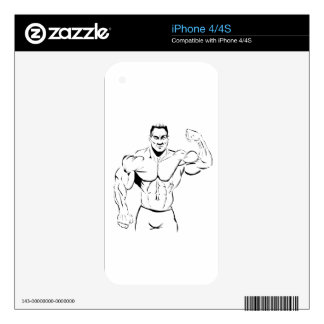 body-building decal for iPhone 4S