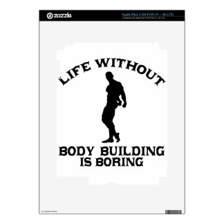 Body building DESIGNS Decal For iPad 3