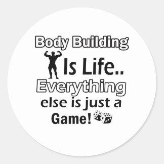 Body Building Gift Designs Classic Round Sticker