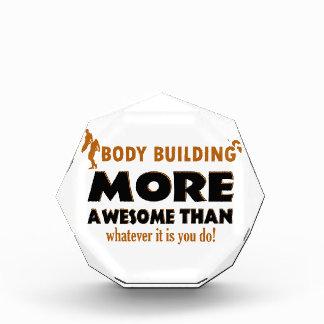 Body building gift items acrylic award