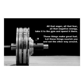 Body Building Gym Motivation Poster