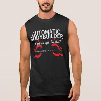 Body building gym smartphone humor sleeveless t-shirt