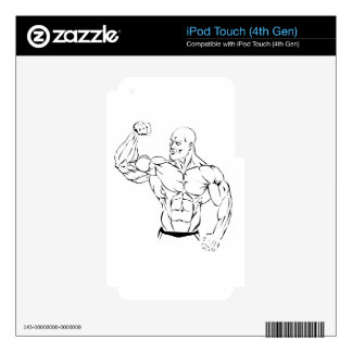 body-building iPod touch 4G decals