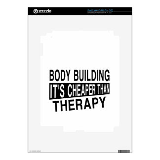 BODY BUILDING Its Cheaper Than Therapy Decal For iPad 2