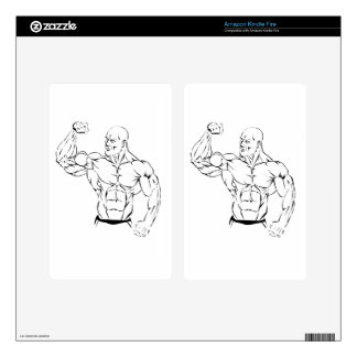 body-building kindle fire decal