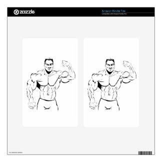body-building kindle fire skin