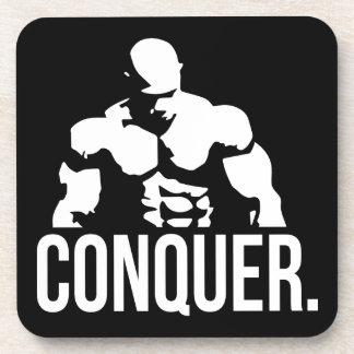 """Body building"" Motivation - Conquer Beverage Coaster"