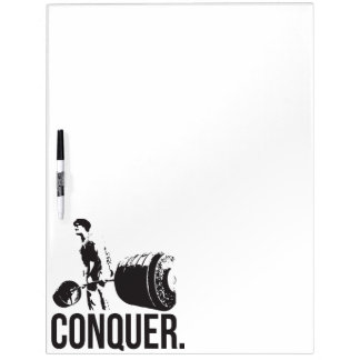 """Body building"" Motivation - Conquer Dry-Erase Board"
