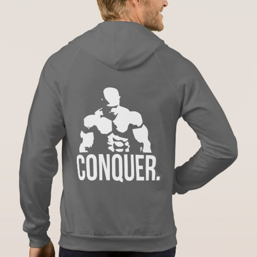 """Body building"" Motivation - CONQUER Hoodies"