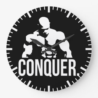 """Body building"" Motivation - Conquer Large Clock"