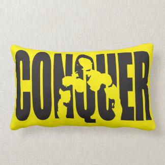 """Body building"" Motivation - CONQUER Throw Pillow"