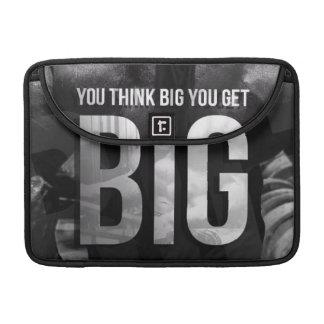 """Body building"" Motivation - Think Big, Get Big Sleeve For MacBooks"