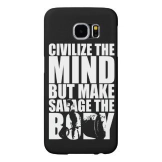 """Body building"" Motivational Samsung Galaxy S6 Case"