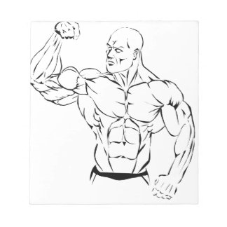body-building notepad